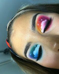 Makeup looks – Lush Makeup Ideas Makeup Eye Looks, Eye Makeup Art, Colorful Eye Makeup, Crazy Makeup, Cute Makeup, Pretty Makeup, Eyeshadow Makeup, Eyeshadows, Cute Eyeshadow Looks