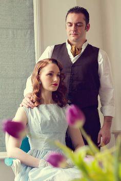 1940s wedding hair style