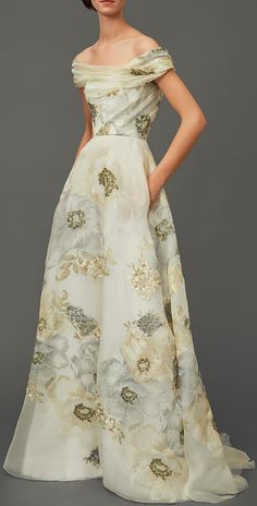 Wow, what beauty! - Marchesa Off The Shoulder A-Line Gown