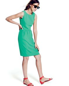 Jessie's notes: I love these colors together. J.Crew Camille dress and the Maya ankle strap sandals.