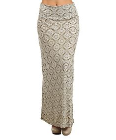 Look at this Pretty Young Thing Sage Pinwheel Maxi Skirt on #zulily today!