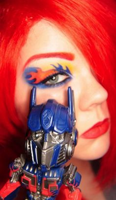 Transform Your Look With Optimus Prime Eye Makeup