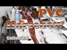 PVC Horse Bow - tutorial Thanks for watching folks, the bow was fun to make and as you can see rather easy for you to do yourselves. This Bow will draw aroun. Survival Bow, Survival Weapons, Survival Skills, Diy Crossbow, Crossbow Arrows, Furniture Grade Pvc, Horse Bow, Pvc Projects, Bow Tutorial