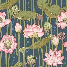 Blooming Lotus Seamless - Patterns Decorative