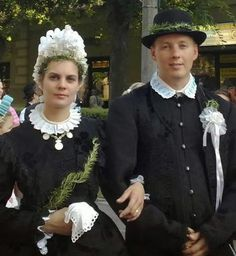 At the beginning of the 20th century the wedding dress was black around Kalocsa