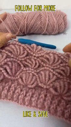Easy Crochet Stitches, Crochet Stitches For Beginners, Crochet Videos, Crochet Basics, Knitting For Beginners, Crochet Blanket Patterns, Knitting Patterns, Start Knitting, Easy Knitting