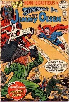 Superman's Pal, Jimmy Olsen Vol 1 - Jack Kirby, Mike Royer Superman Comic, Dc Comics Superheroes, Marvel Dc Comics, Vintage Comic Books, Vintage Comics, Comic Book Artists, Comic Book Characters, Marvel Characters, Dc Comics Collection