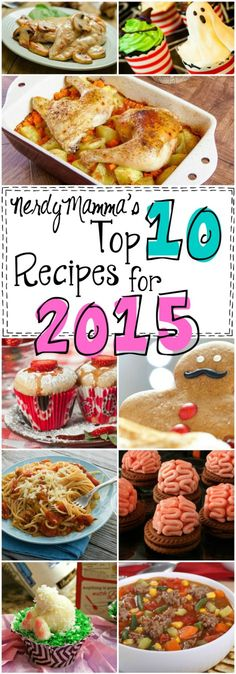 These are 10 of the BEST recipes anywhere. I mean, some of them are kind of off the wall, but super-yummy. LOVE!