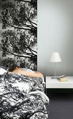 Tuuli Wall Mural Black/White | Kiitos Marimekko