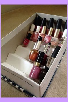 37 Ideas For Makeup Storage Drawers Organisation - Makeup organization diy drawer nail polish ideas Effektive Bild - Makeup Storage Shelves, Makeup Storage Organization, Diy Storage, Organization Ideas, Storage Ideas, Storage Hacks, Shoe Box Storage, Diy Organizer, Make Up Organiser