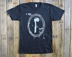 Axe Tshirt by KrisJohnsen on Etsy made in Maine $25