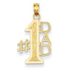 14k #1 Dad Charm K4732