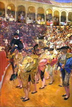 Sevilla. Los toreros. 1915, una de las tres obras de la colección que Joaquín Sorolla dedicó a Sevilla. Óleo