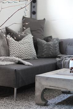 Grey is the new neutral. Imagine this space with a little punch of color (gold).