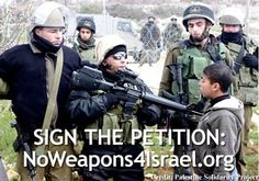 No Weapons For Israel ***PLEASE consider signing this petition! To pacify Israel, because they didn't want a deal made with Iran, but a war. US government  award Israel by authorizing transfer of 'massive ordnance penetrators' and other advanced weaponry that can be used on Iran. If that happens, the U.S. will be dragged into another war.ALSO, U.S. is signing a new deal to give $45 billion more in U.S. taxpayer-funded weapons, that Israel uses to injure and kill Palestinian civilians.