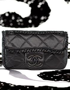 Chanel Black Chain Me Flap Mini Bag