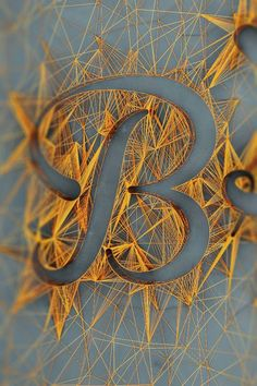 String art letter B Typography Letters, Graphic Design Typography, Typography Served, Japanese Typography, Typography Poster, Typography Inspiration, Graphic Design Inspiration, Daily Inspiration, String Art Letters