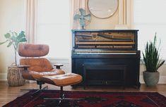 Recliner Pictures | Download Free Images on Unsplash Piano Vertical, The Piano, Piano Bar, Granny Pod, Upright Piano, Interior Design Magazine, Piano Lessons, Classic Furniture, Vintage Furniture
