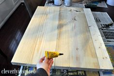 $10* DIY Wood Countertop | Cleverly Inspired