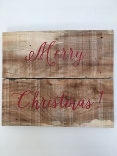 Merry Christmas, rustic, reclaimed wood, holiday, wall hanging by BlueLilacWoodshop on Etsy