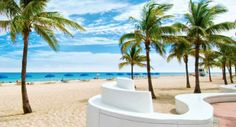 Beautiful Fort Lauderdale beach, FL.   The U.S. has some gorgeous beaches as well.
