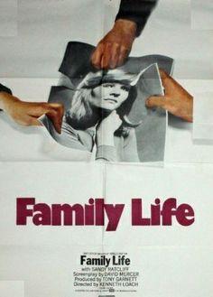 """Family life"" de Kenneth Loach avec Sandy Ratcliff. 1972"