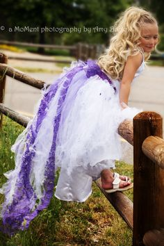 Check out this item in my Etsy shop https://www.etsy.com/listing/123927915/flower-girl-tutu-dress-with-detachable