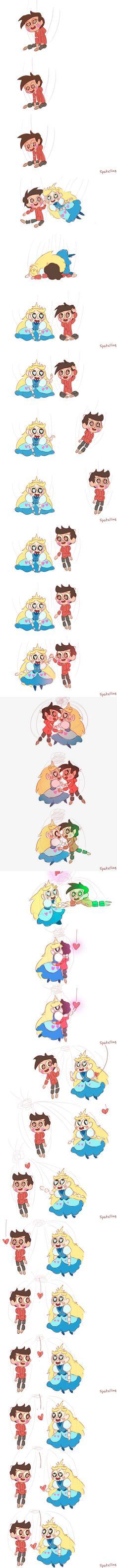 Star and Marco Starco Comic, Disney Stars, Star Vs The Forces Of Evil, Force Of Evil, Disney Channel, Gravity Falls, Fan Art, Comics, Gravity Falls Bill