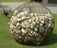 Gabion river stone - sculpture