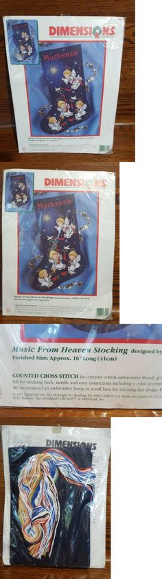Cross Stitch Kits 34017: Dimensions Music From Heaven Stocking Counted Cross Stitch # 8525 -> BUY IT NOW ONLY: $40 on eBay!