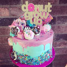 Donut Grow Up Cake Topper / Donut Cake Topper/ Doughnut Cake Topper /Donut Birth., Donut Grow Up Cake Topper / Donut Cake Topper/ Doughnut Cake Topper /Donut Birth. Donut Party, Donut Birthday Parties, Donut Birthday Cakes, Birthday Ideas, 2nd Birthday, Princess Birthday, 10th Birthday Cakes, Birthday Decorations, Birthday Cakes For Girls