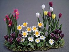 "Falcon 1/2"" Scale Tulip Landscape Garden Flowers  miniature for the fairie garden"
