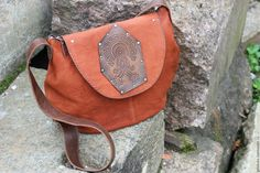 """Купить Сумка из натуральной кожи """"Актах"""" - коричневый, коричневый цвет, сумка из натуральной кожи"""