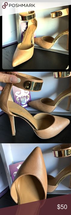 Fergie Palace Camel Heels (size 7.5) Brand new with sticker. Size 7.5. Shoes Heels