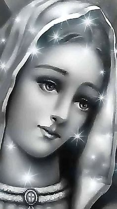 GEORGES/BEAUTIFUL PICTURE OF VIRGIN MARY IN BLACK & WHITE!!!