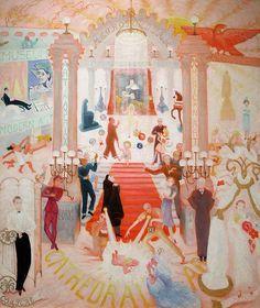 Florine Stettheimer, Cathedrals of Art, 1943-44 Metropolitan Museum of Art