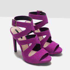 ZARA PURPLE HIGH HEELS #shoes #heels #purple 2015/2016 #Autumn