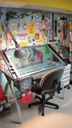 An awesome basement studio/office/work space. What I'm aiming for.