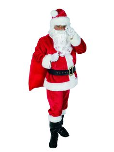 Children/'s Deluxe Santa Hat Red /& White Pom Pom Festive Xmas Fancy Dress Party