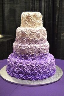 purple ombre wedding cake - Google Search