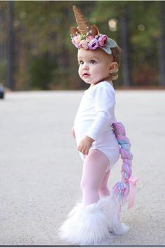 – New Ideas - Kids costumes Unicorn Halloween Costume, Baby Girl Halloween Costumes, Baby First Halloween, Baby Costumes, Halloween Kids, Toddler Unicorn Costume, Emoji Costume, Pirate Costumes, Halloween College