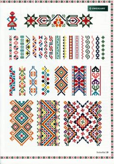 Beading _ Pattern - Motif / Earrings / Band ___ Square Sttich or Bead Loomwork ___ Gallery.ru cross stitch borders -- would make beautiful headband/earwarmers! Cross Stitch Borders, Cross Stitch Designs, Cross Stitching, Cross Stitch Embroidery, Embroidery Patterns, Hand Embroidery, Cross Stitch Patterns, Cross Stitch Geometric, Broderie Bargello