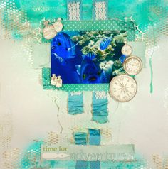 Mrs. Scrapalot - Live. Love. Scrap. Mixed Media Underwater Layout