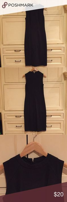 Loft Dress Crewneck black dress. Great for the office or dress it up for a night out with friends. LOFT Dresses