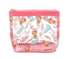 3282c2e1c Hello Kitty Vinyl Pouch: Beach Time Hello Kitty Bag, You Bag, Coin Purse