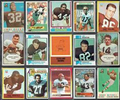 Cleveland Browns football card history collage BV (VG/130.00 - NM/400.00) #ClevelandBrowns
