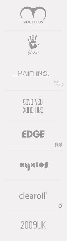 Logos & Wordmarks 07/08 by Anastasia Gerali, via Behance