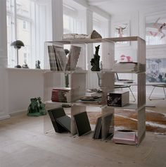 Verner Panton Wire Shelving.. love these as they're so versatile :)
