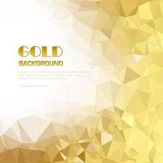 Low Poly Gold Background Design