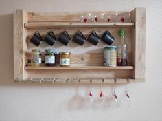 Recycled Pallet Shelves For Your Kitchen